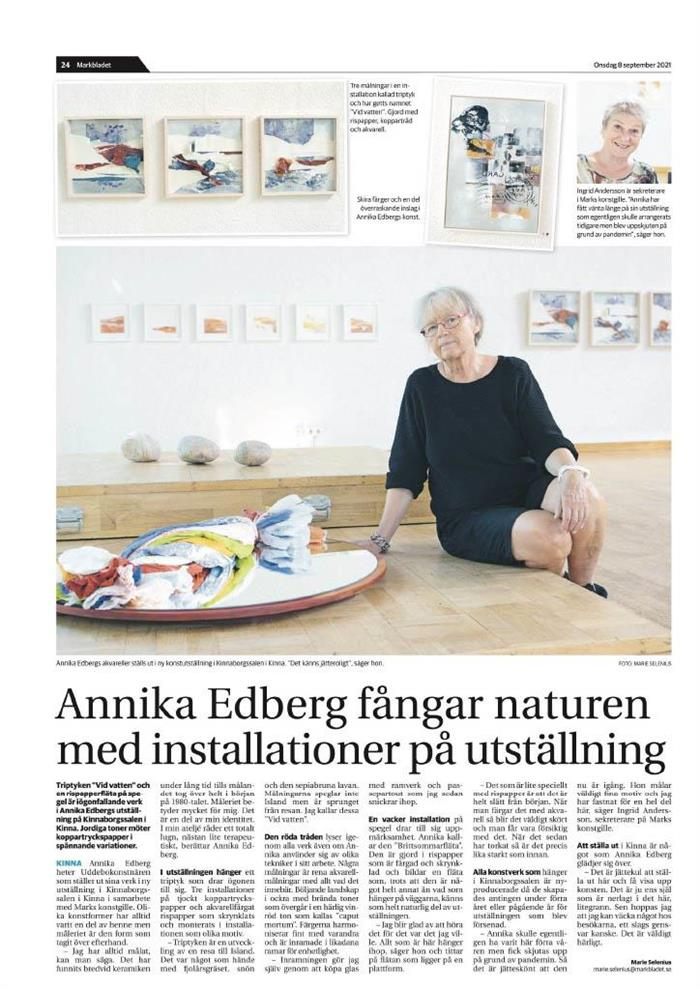 Markbladet 2021-09-08 - ANNIKA EDBERG