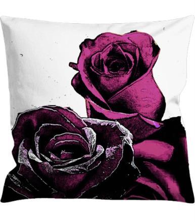 Kuddfodral blommor-rosor
