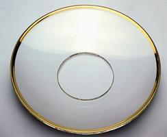 Glassmansjett med gullkant, medium 7cm