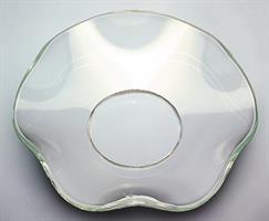 Bølget glassmansjett klar, 7cm