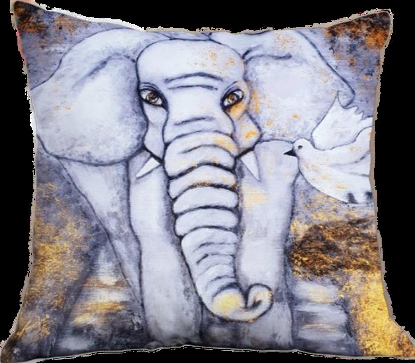 Kuddfodral Elefant