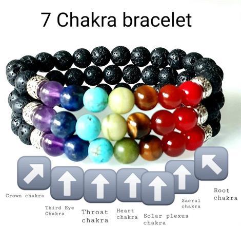 7 Chakra armband /Balansera dina chakra/ pärlarmband