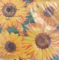 Lunsjservietter Sunflowers, 3 lags 20stk