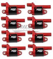 Coils, Red, Round, 2014 & up GM V8, 8-pk
