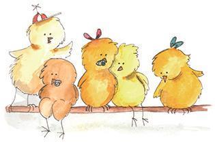 Fem små kycklingar - lösnot