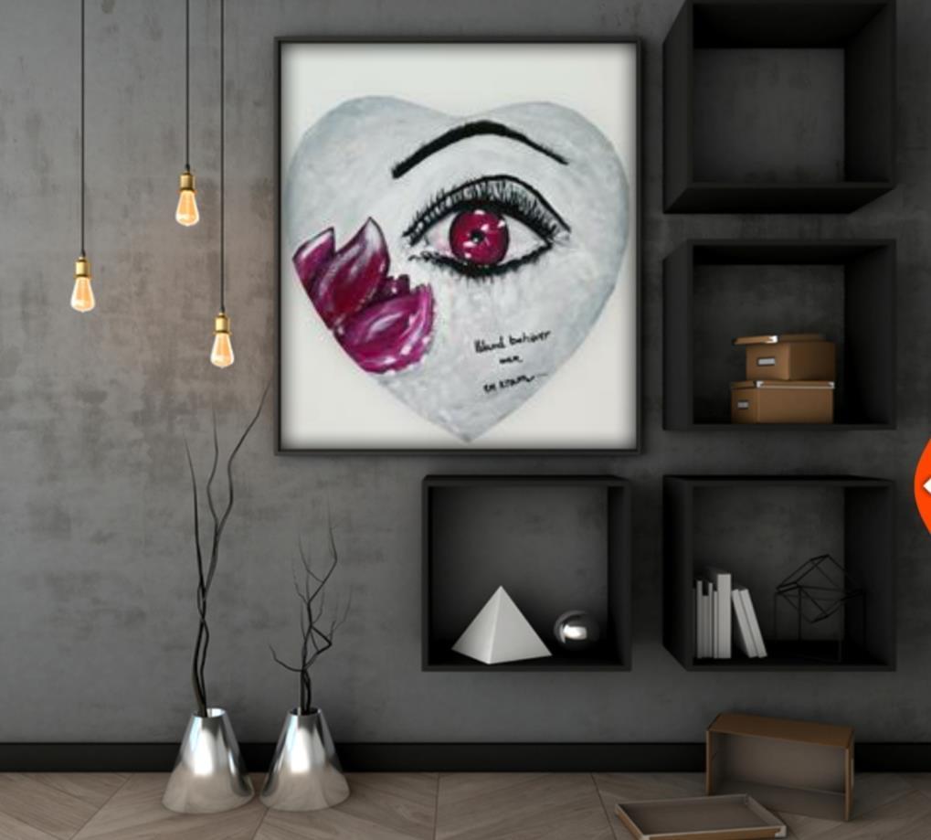 Originalkonst ,Kram 30x30 cm