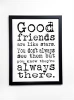 Poster 30x40 cm i ram, Good friends