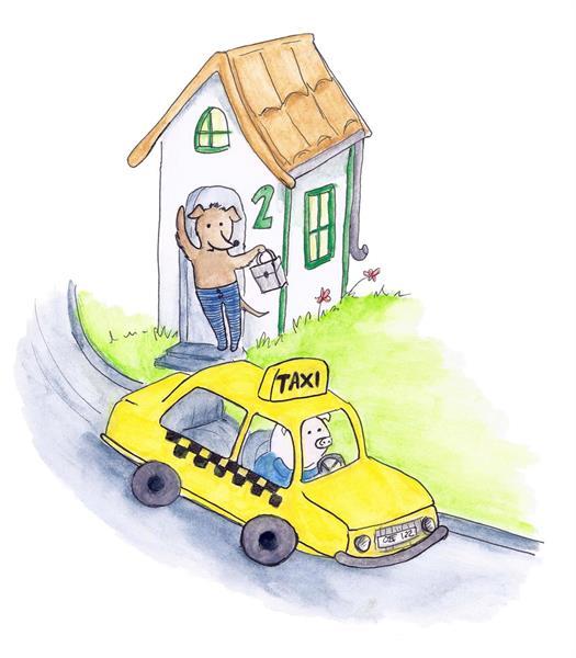 Taxibil - lösnot