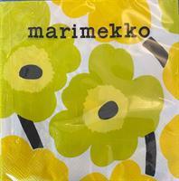 Marimekko unikko lunsj 20stk, yellow
