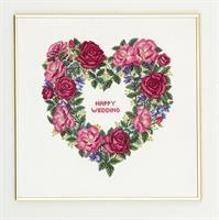 Minnesdag hjärta med rosor