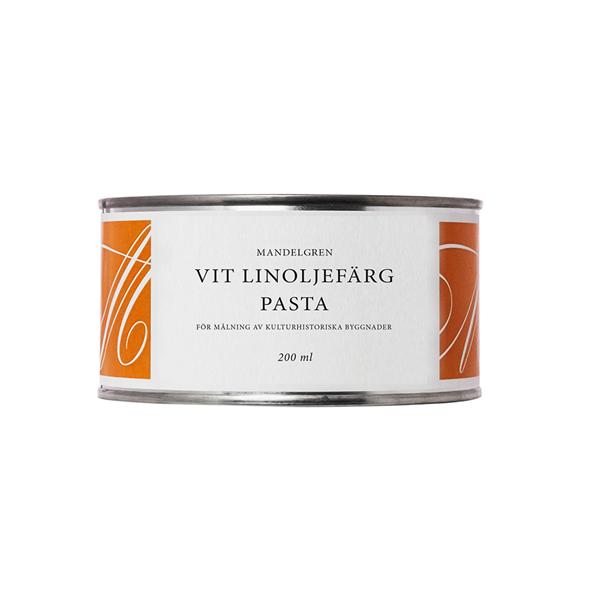Linoljefärgspasta vit, 0,2 liter