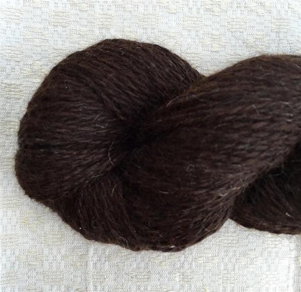 Strikkegarn 2tr natursvart/mörkbrun