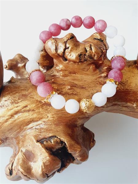 Pärlarmband Dam -pärlor Jadesten med strass