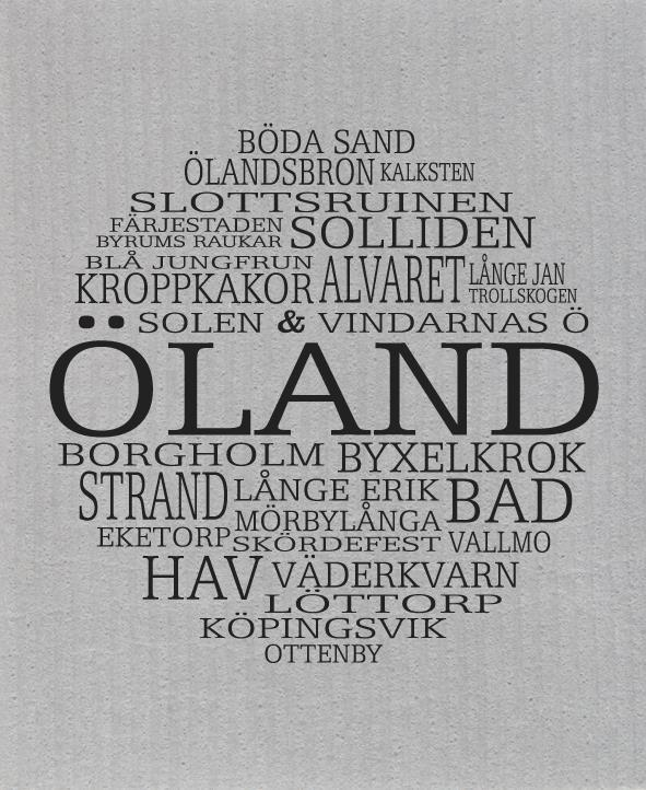 Disktrasa, Öland, grå/svart text