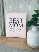 Disktrasa, Best Mom, rosa/svart text