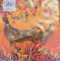 Lunsjservietter Golden pheasants 3 lags 20stk