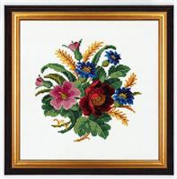 Blommor med vetekvistar