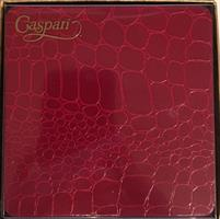 Caspari glassbrikke 8stk, Crocodile red