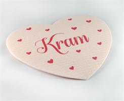 Disktrasa-hjärta, Kram, rosa/röd text