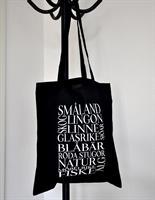 Tygkasse, Småland, svart/vit text