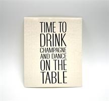 Disktrasa, Time to drink, vit/svart text