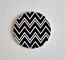 Glasunderlägg 4-p, Zig zag, svart
