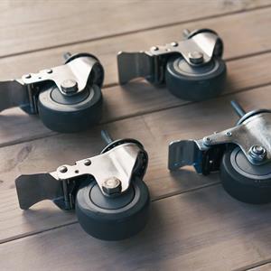 Hjul for store tanker - rustfritt stål
