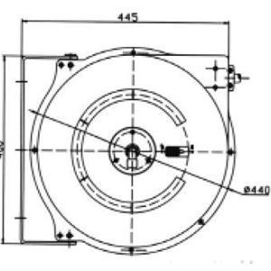Letkukela vesi/ilma PVC letku 20+1 m 20 bar 60C