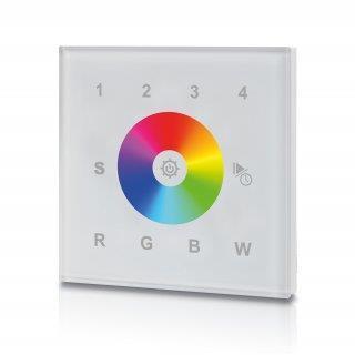 RGB(W) Touchpanel för väggmontage 230V