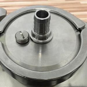 """3"""" TC Cap with 17 mm Blow-Off Hole and Pressure Re"""