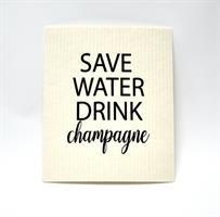 Disktrasa, Save water, vit/svart text