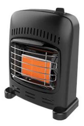 Gasolkamin Mini Flame 660-1550w