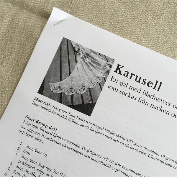 "Stickbeskrivning ""Karusell"" med porto"