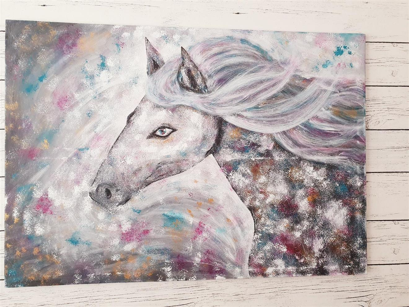 Originalkonst, Love ,Häst 80x100 cm