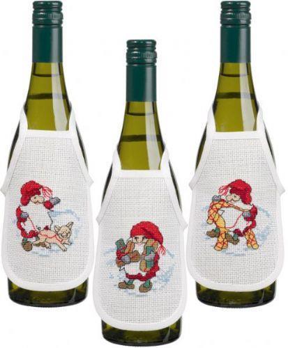 Flaskförkläden jul 3-pack