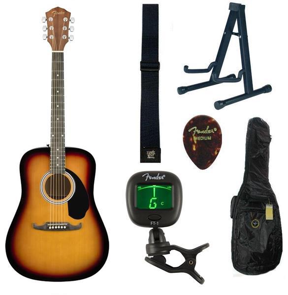 Akustisk gitar pakke Fender FA125SB
