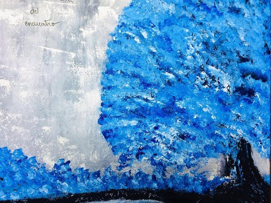 Tavla landskap-El arte 50*50 cm