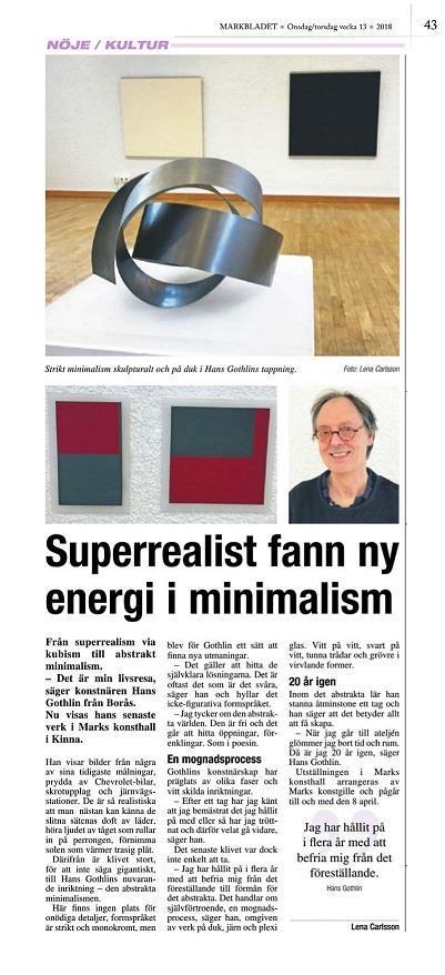 Hans Gothlin - Markbladet 2018-03-27