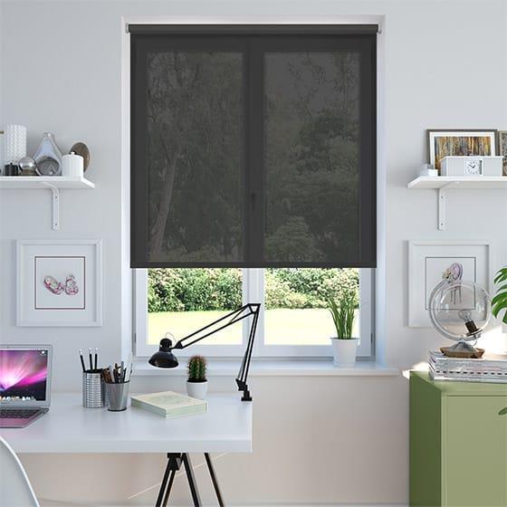 Screen-rullaverho Leveys 100 cm Musta