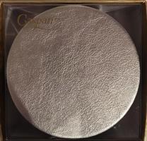 Caspari glassbrikke 8stk, Leather silver