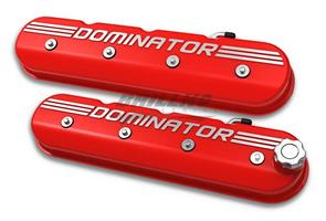 VALVE COVER, TALL LS, GLOSS RED W/ DOMIN