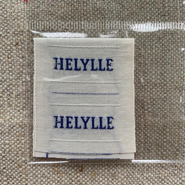 """""""Helylle"""" tygetikett blå"""