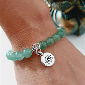 Aventurin armband med lotus blomma