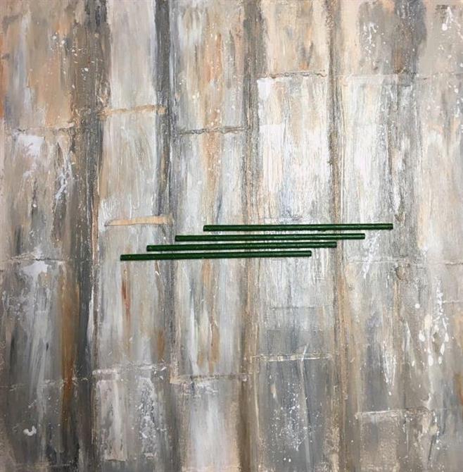 Abstrakt tavla-Trä 50 x 50 cm