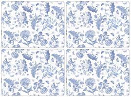 Botanic blue spisebrikker 4stk