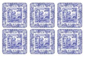 Blue Italian glassbrikker 6stk