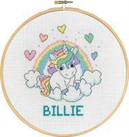 Tavla Billie enhörning med ram
