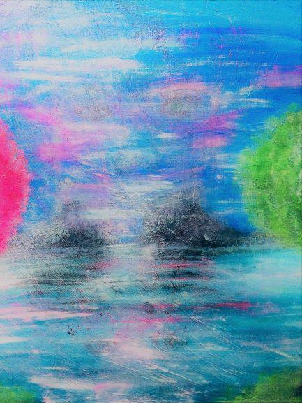 Abstrakt konst-The eyes 50*50 cm,