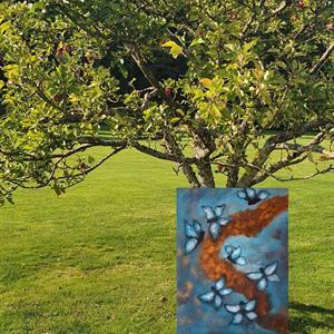 Tavla -Fjärilar 5 /I can fly ,40*50 cm