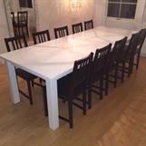 Vitt matsalsbord efter önskemål